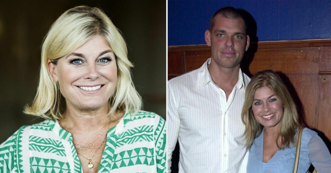 Pernilla Wahlgrens relation med Theos pappa exet Joachim Lennholm