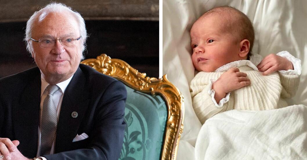 Kungen Kung Carl Gustaf Prins Julian Dop