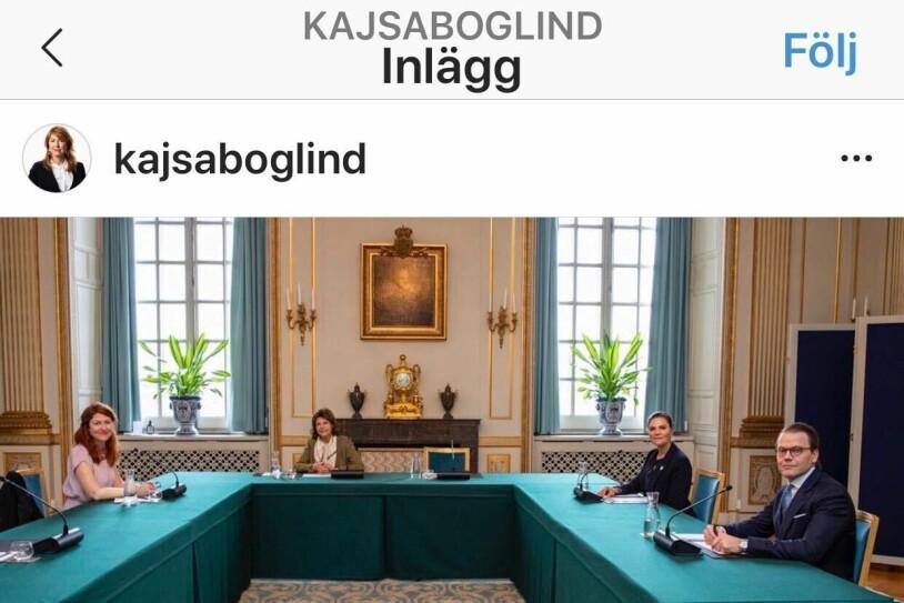 Kajsa Boglind P4 Världen Sveriges Radio Drottning Silvia Kronprinsessan Victoria Prins Daniel på Kungliga slottet