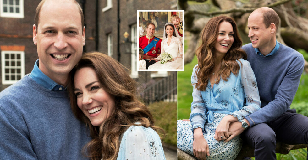 Hertiginnan Catherine Kate Prins William 10-årig bröllopsdag