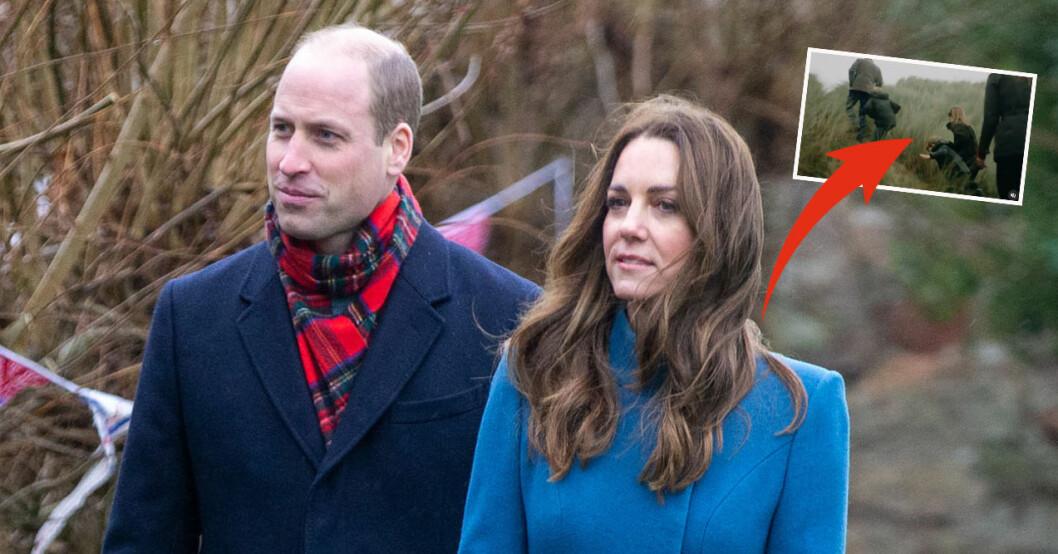 Prins William, Kate Middleton, prins George, prinsessan Charlotte och prins Louis