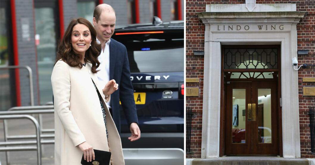 Kate och William har åkt in till St Marys sjukhus för förlossningen av deras tredje barn.