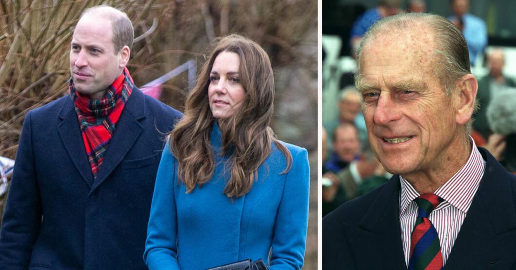 Prins William, Kate Middleton och prins Philip