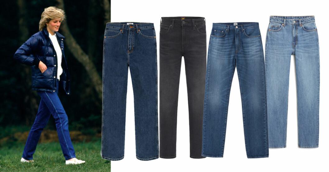 Klassiska tidlösa jeans