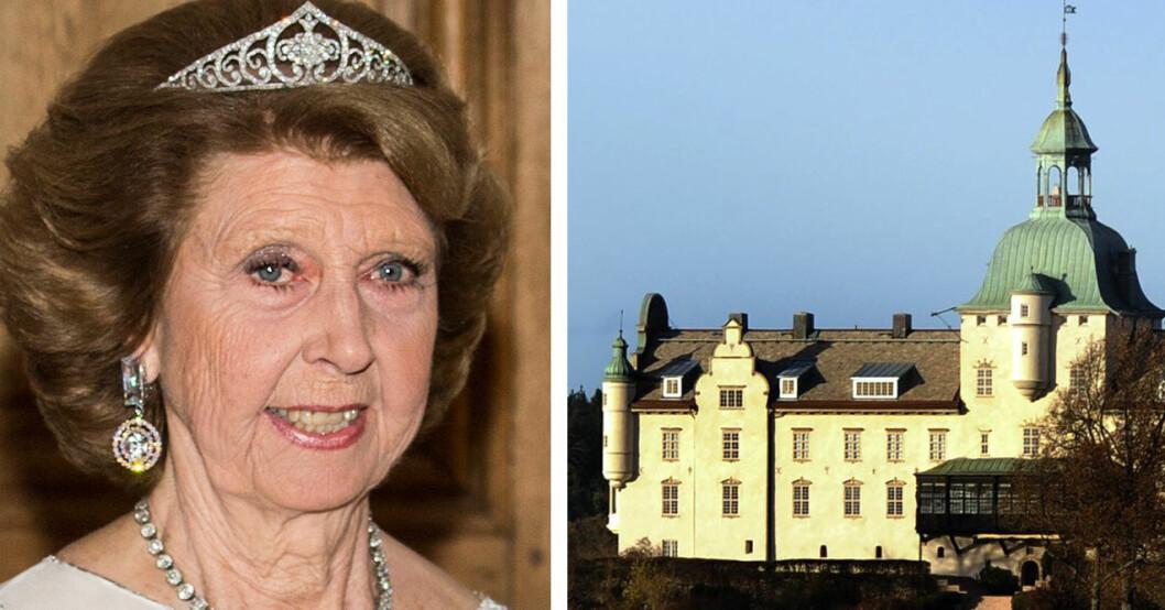 Prinsessan Désirée och Kobergs slott eller gods. En av Hagasessorna.