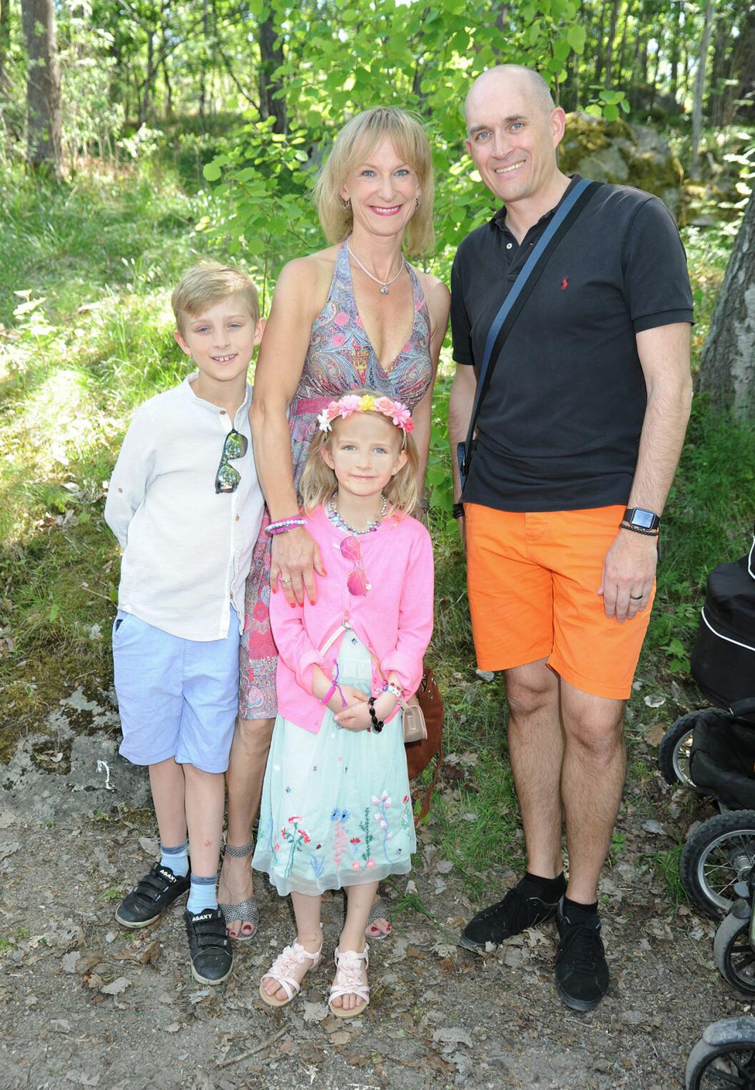 Kristina Alvendal med familj