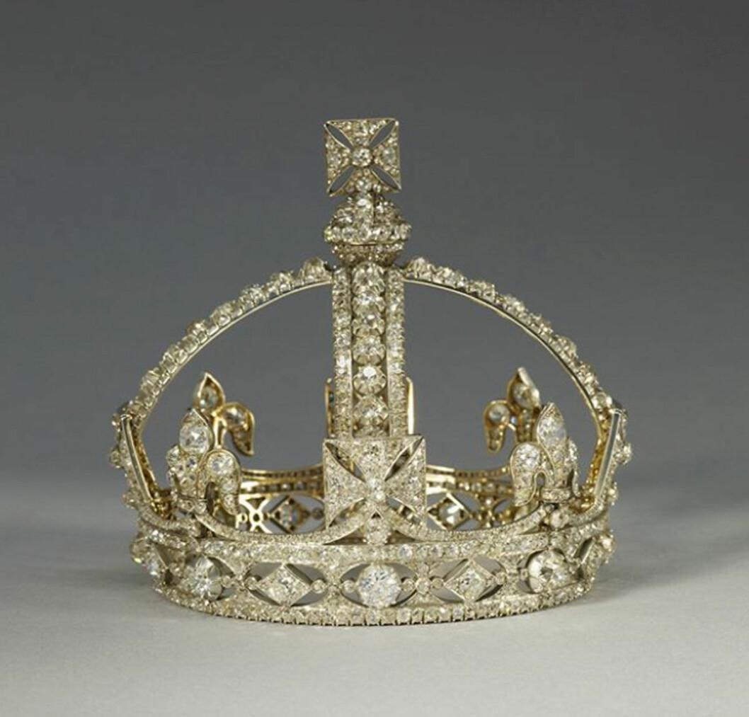 Diamantkrona, tillhörandes brittiska kungahuset.