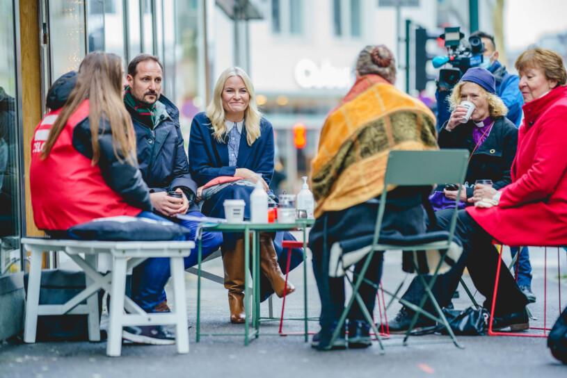 Kronprinsessan Mette-Marit Kronprins Haakon Biskop Kari Veiteberg Café +Kaffe Oslo