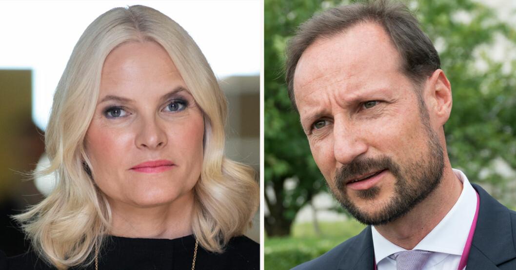 Kronprinsessan Mette-Marit och kronprins Haakon