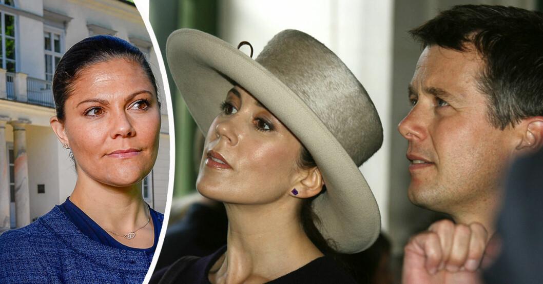 Kronprinsessan Victoria, kronprinsessan Mary och kronprins Frederik