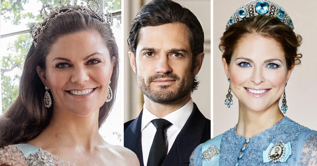 Kronprinsessan Victoria Prins Carl Philip Prinsessan Madeleine
