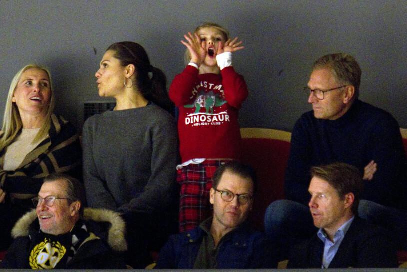 Kronprinsessan Victoria prins Daniel prinsessan Estelle Anna Westling Mikael Söderström Olle Westling ishockey Gävle julen 2019