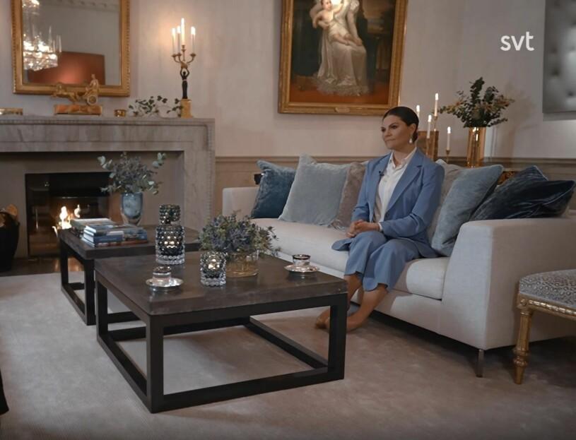 Kronprinsessan Victoria Vardagsrummet Haga slott Året med kungafamiljen 2020 SVT