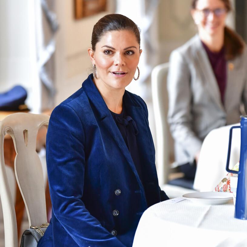 Kronprinsessan Victoria vid förra veckans länsbesök i Västmanland.