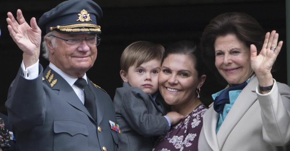 Король Королева Сильвия Кронпринцесса Виктория Принц Оскар