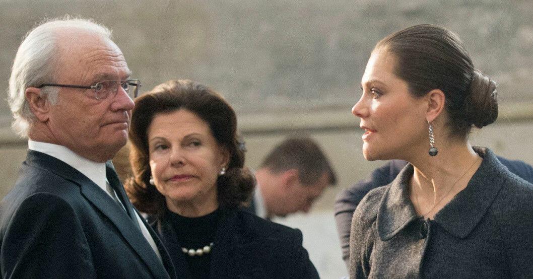 Kung Carl Gustaf, drottning Silvia, kronprinsessan Victoria