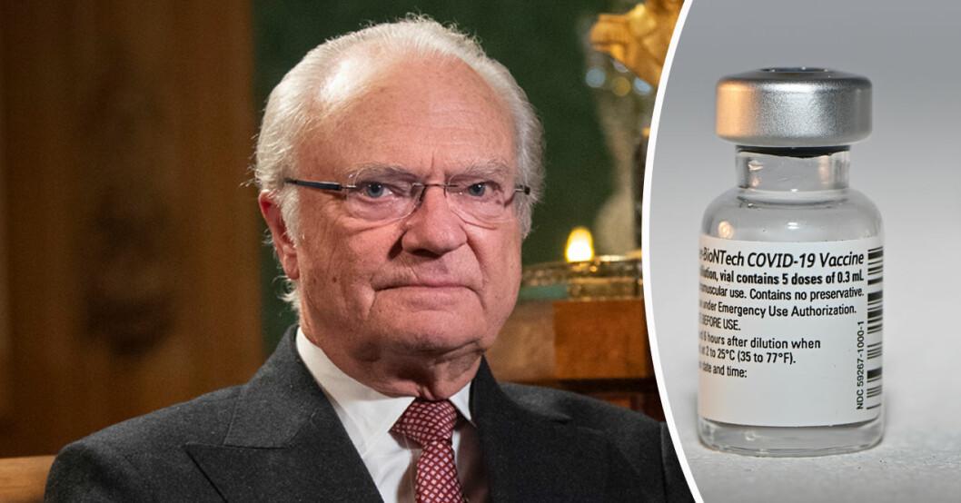 Kung Carl Gustaf covid-19 vaccin