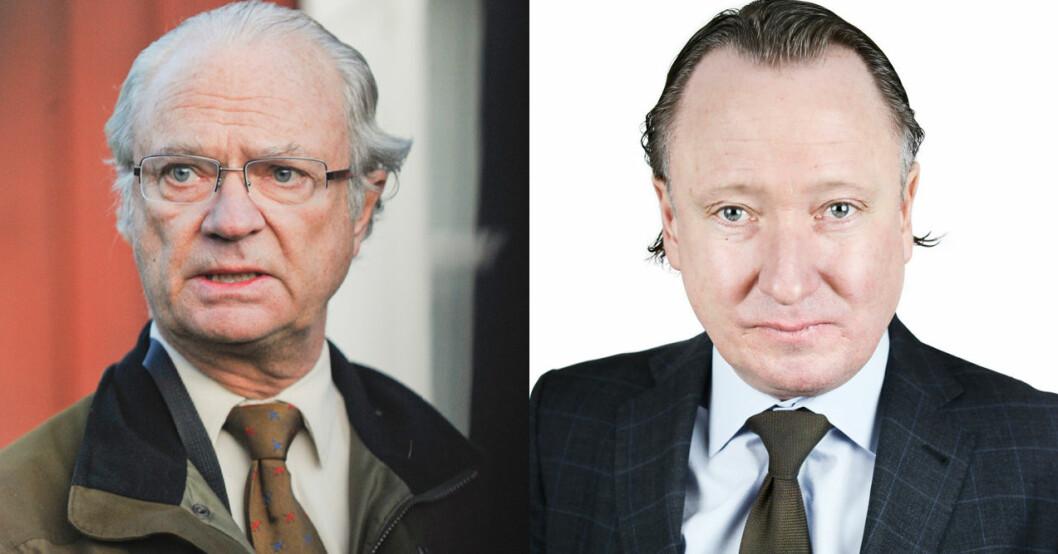 Kung Carl Gustaf och Johan T Lindwall