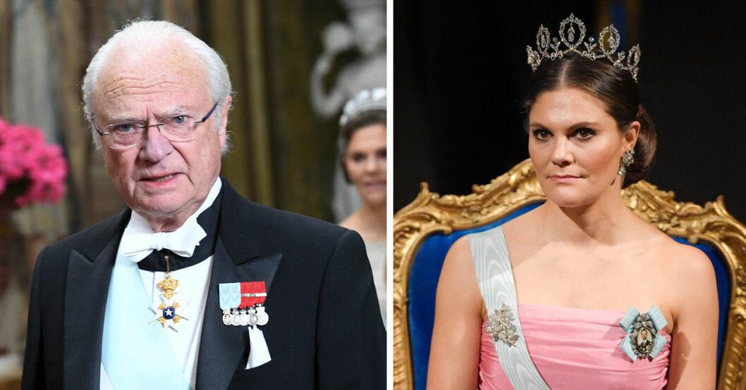 Kung Carl Gustaf och kronprinsessan Victoria