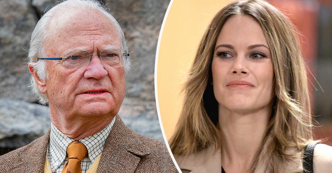 Kung Carl Gustaf och prinsessan Sofia