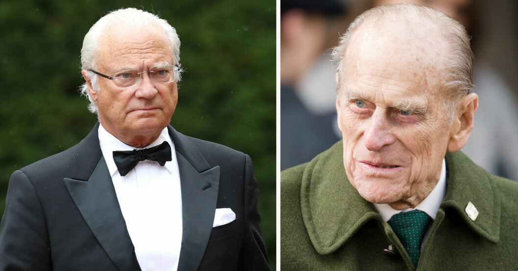 Kung Carl Gustaf och prins Philip