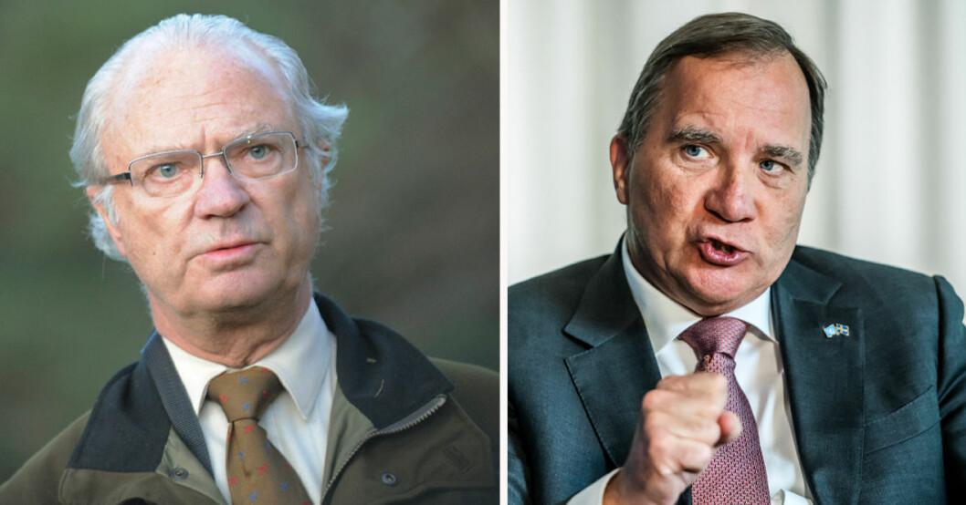 Kung Carl Gustaf och Stefan Löfven