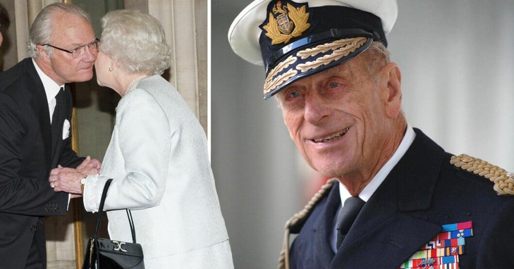 Kungen Drottning Elizabeth Prins Philip