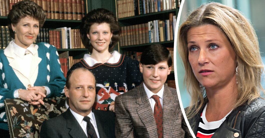 Kung Harald, kronprins Haakon, drottning Sonja och prinsessan Märtha Louise
