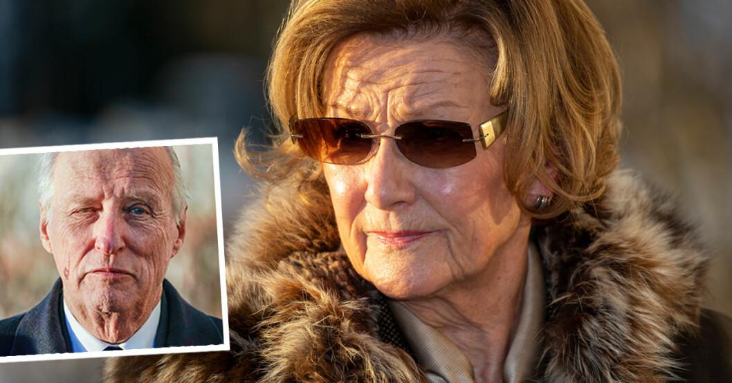 Kung Harald sjuk Drottning Sonja