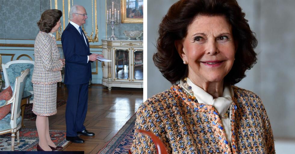 Kungen 75 år Kungens födelsedag 2021 Drottning Silvia Chaneldräkt