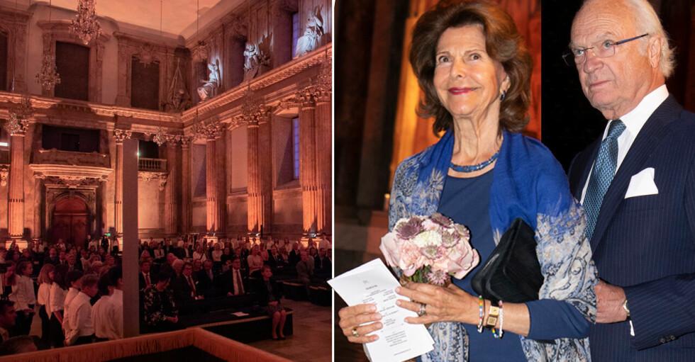 Kungen Drottning Silvia Hyllningskonsert sjukvården