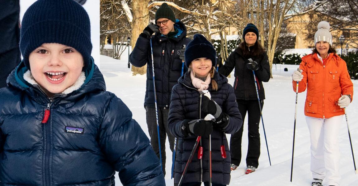 Prins Oscar Prinsessan Estelle Kronprinsessan Victoria Drottning Silvia