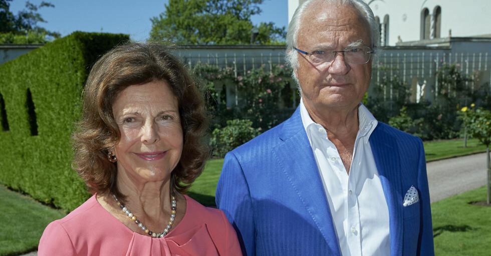 Kungen och drottning Silvia på Solliden.