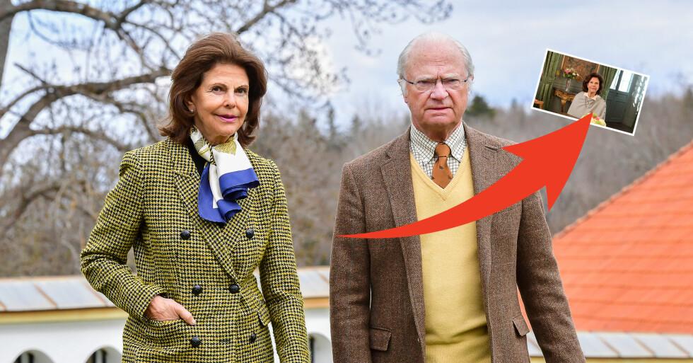 Nya bilden på drottning Silvia efter fallolyckan