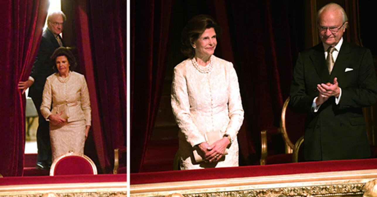 Kungen och drottning Silvia på Kungliga Operan Rigoletto
