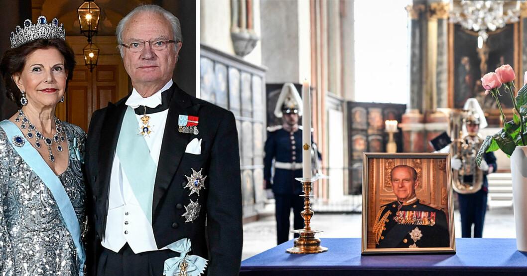 Kungen Drottning Silvia Hedrade prins Philip