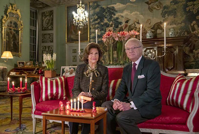 Drottning Silvia Kungen Stensalen Drottningholm Drottningholms slott Jul 2020