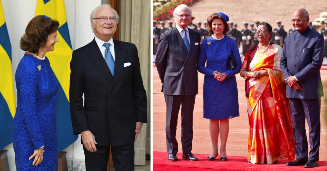 kungen och drottning i indien på statsbesök