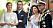 Kronprinsessan Victoria, prins Daniel, kungen och drottning Silvia.