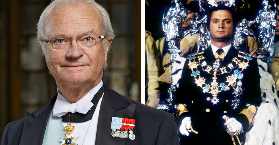 Kungen Kung Carl Gustaf Trontillträdet 1973