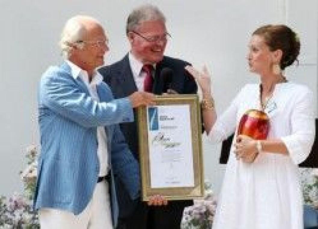 Anna Barkevall får priset Året Ölänning av kungen.