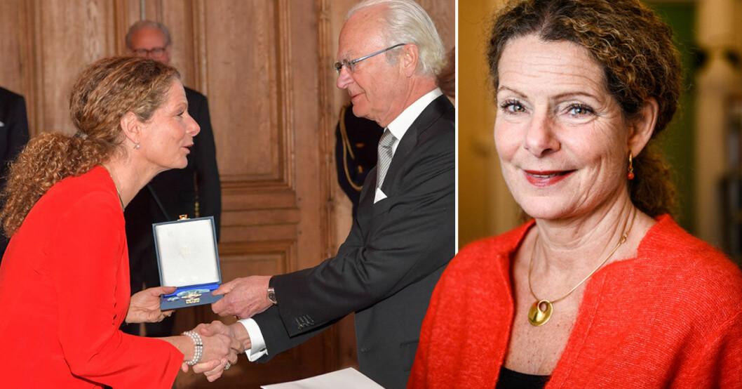 Tuff kritik - Cilla Benkö får medalj av kungen