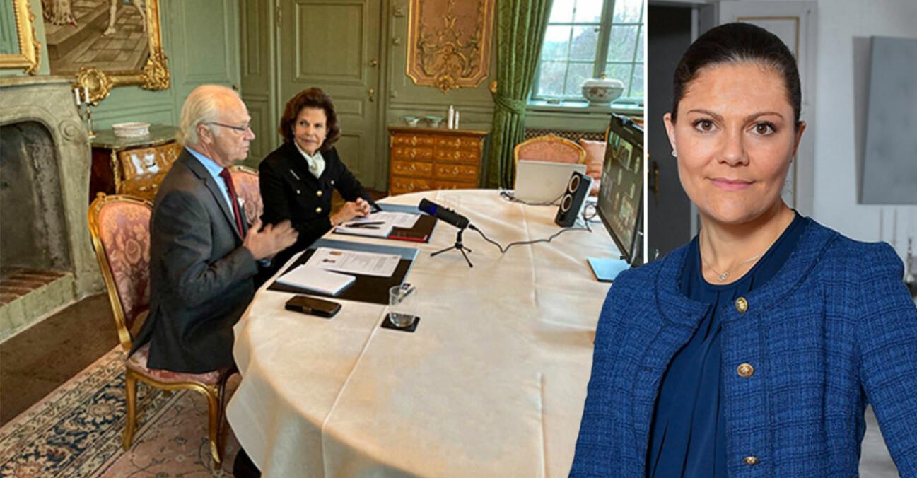 Kungen Drottning Silvia Kungaparet Kronprinsessan Victoria Drottningholm Drottningholms slott sommarmatsal