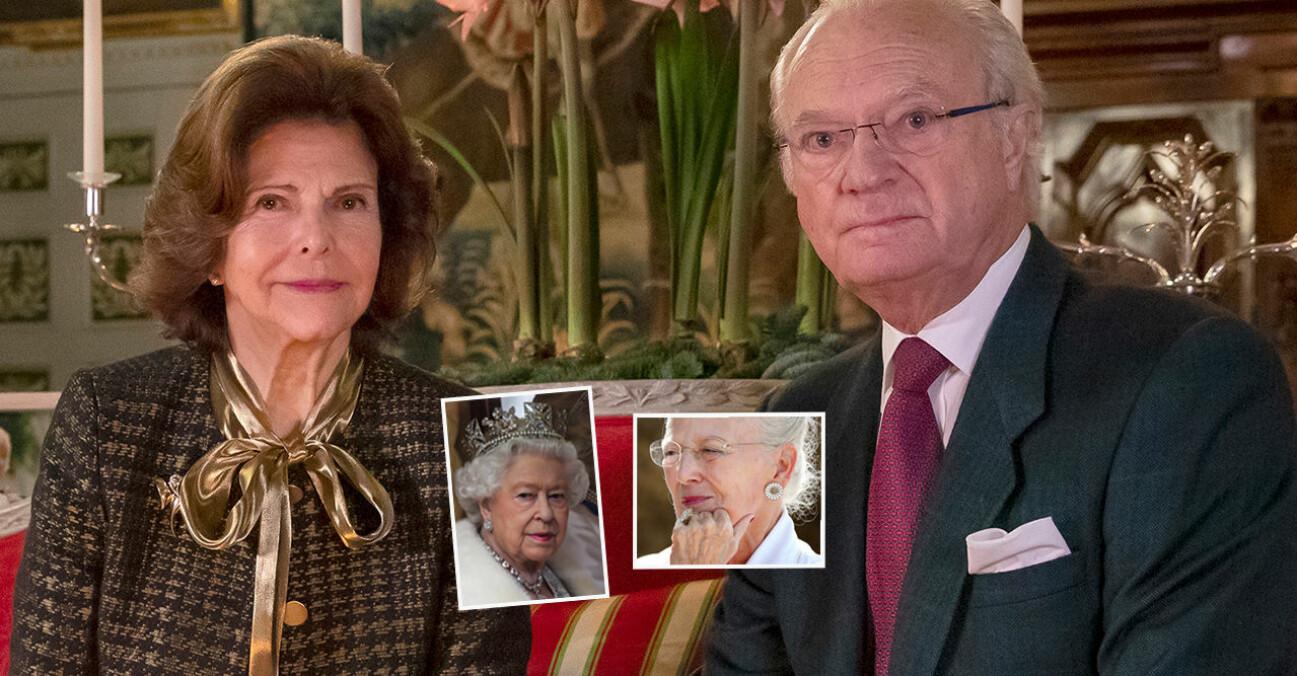Kungen Drottning Silvia Drottning Elizabeth Drottning Margrethe Coronavaccin