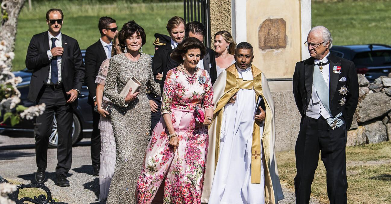 Kungen Drottning Silvia Michael Bjerkhagen Louise Gottlieb bröllop Familjen Gottlieb