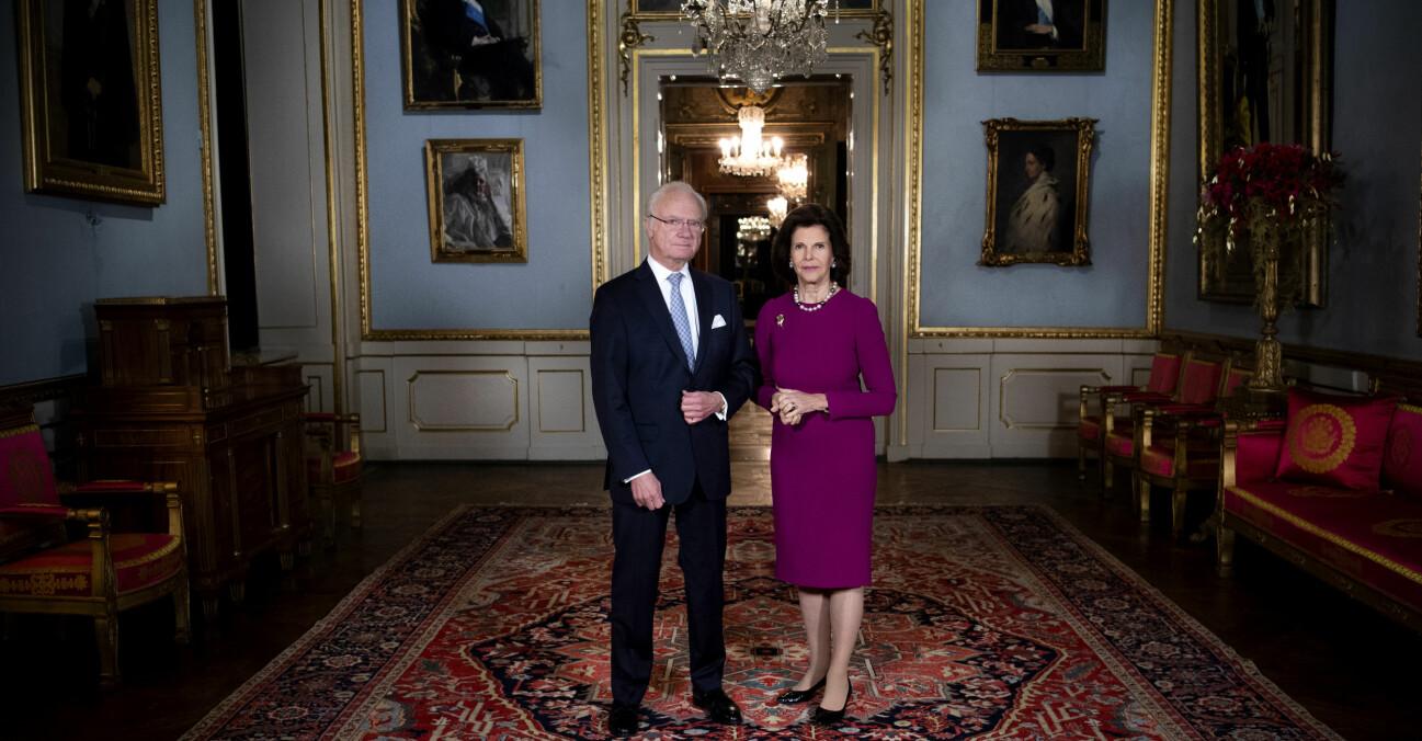 Kungen Drottning Silvia Nobel 2020 Stockholms slott Slottet