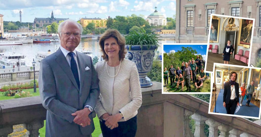 Kungen Drottning Silvia Riksmarskalk Fredrik Wersäll Statsfru Anna Hamilton Informationschef Margareta Thorgren Hovet Kungliga Hovstaterna