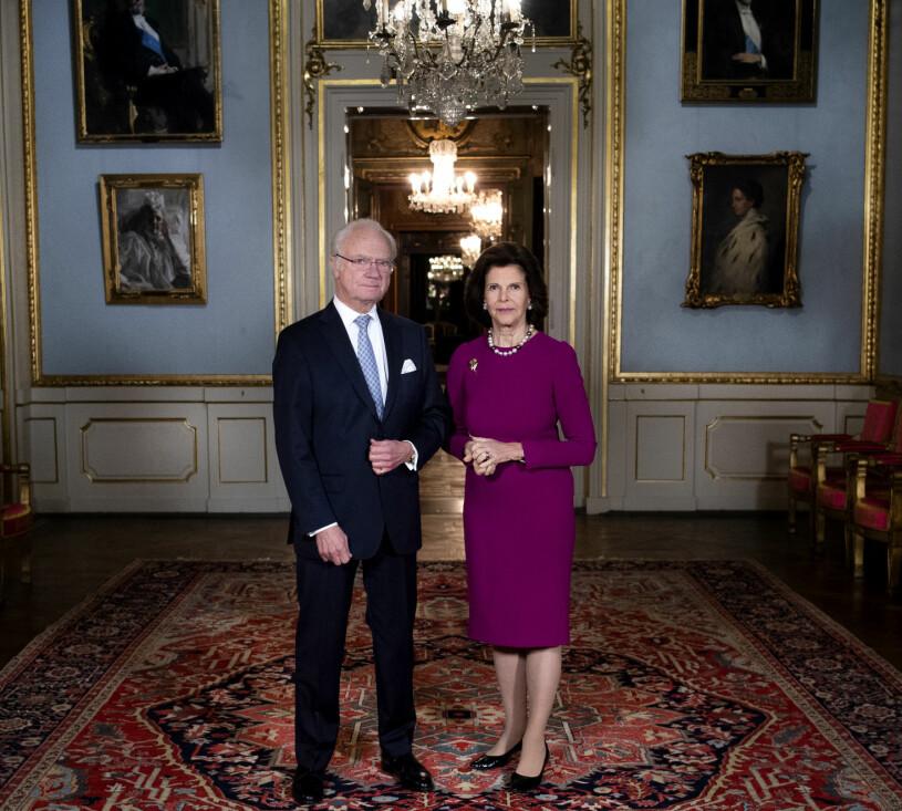 Kungen Drottning Silvia Stockholms slott Kungliga slottet 2020