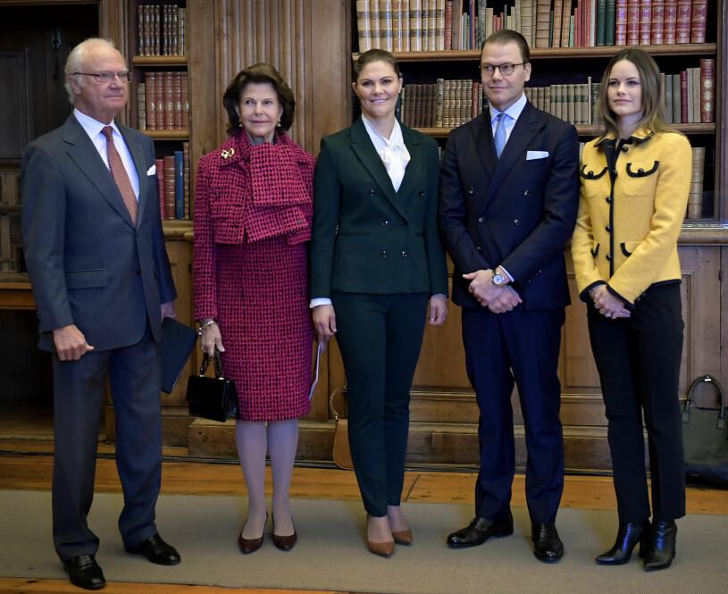 Kungen drottningen drottning Silvia kronprinsessan Victoria prins Daniel prins Carl Philip prinsessan Sofia Kungafamiljen