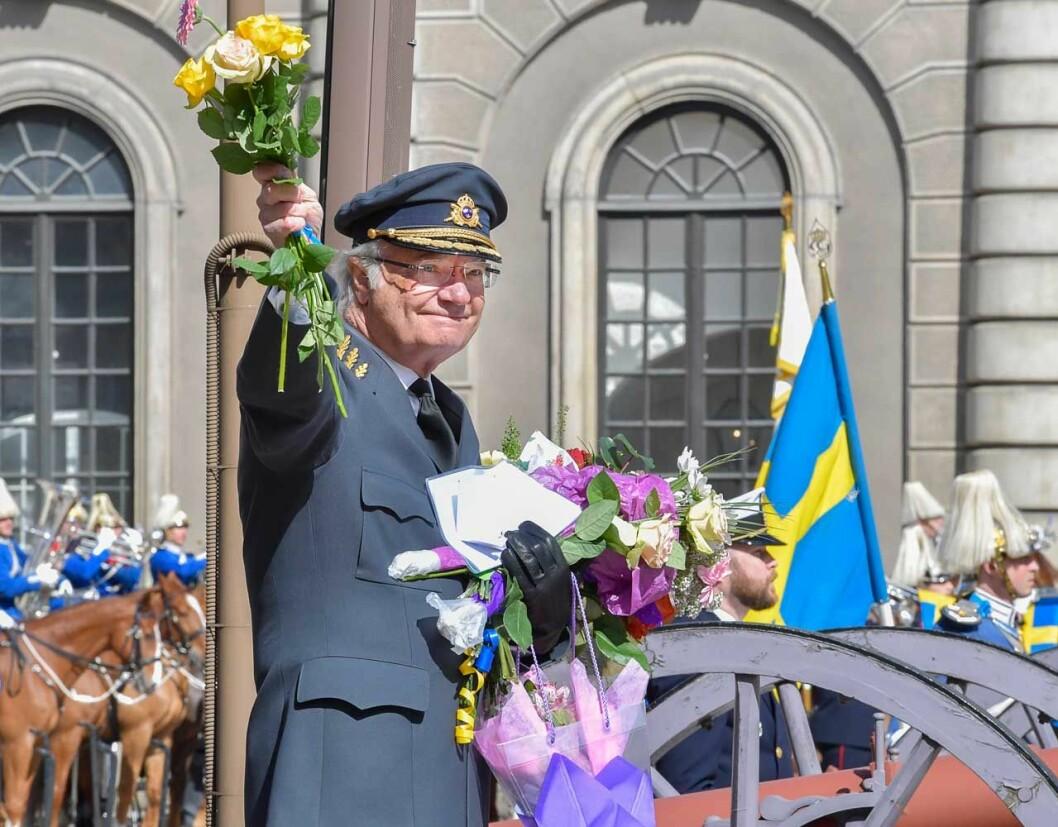 Kungens födelsedag, en trevlig tradition på Kungliga slottet.